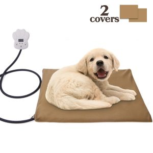 Pet Heating Pad Waterproof Adjustable Warming, Chew Resistant