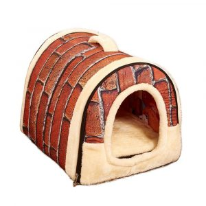 Cozy Self Warming Covered Pet Beds Shelter - Brick Guardians Guardians Cozy Self Warming Covered Pet Beds Shelter - Brick