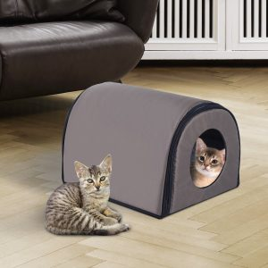 Single Heated Portable Indoor Outdoor Cat Shelter House